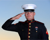 Picture of Marine saluting